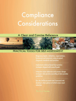 Compliance Considerations A Clear and Concise Reference