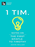 Notes on the First Epistle to Timothy: New Testament Bible Commentary Series