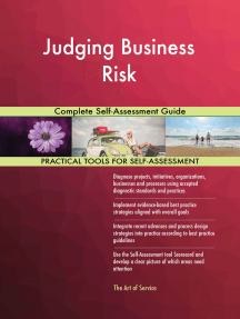 Judging Business Risk Complete Self-Assessment Guide