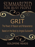 Grit - Summarized for Busy People