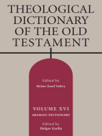 Theological Dictionary of the Old Testament, Volume XVI