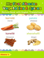 My First Albanian Vegetables & Spices Picture Book with English Translations