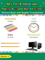 My First Albanian Things Around Me at School Picture Book with English Translations