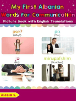 My First Albanian Words for Communication Picture Book with English Translations