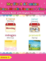 My First Albanian Days, Months, Seasons & Time Picture Book with English Translations