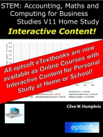 Accounting, Maths and Computing for Business Studies V11 Home Study