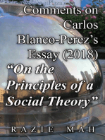 "Comments on Carlos Blanco-Perez's Essay (2018) ""On the Principles of a Social Theory"""