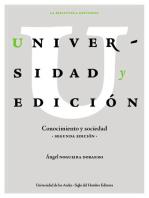 Universidad y edición: Conocimiento y sociedad (Segunda edición)