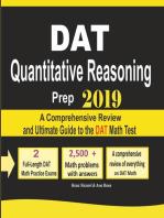 DAT Quantitative Reasoning Prep 2019