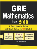 GRE Math Prep 2019