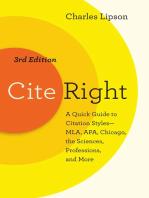 Cite Right, Third Edition
