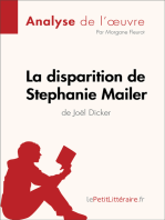 La disparition de Stephanie Mailer de Joël Dicker (Analyse de l'oeuvre)