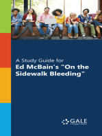 """A Study Guide for Ed McBain's """"On the Sidewalk Bleeding"""""""