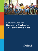 """""""A Study Guide for Dorothy Parker's """"""""A Telephone Call"""""""""""""""