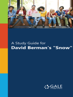 """A Study Guide for David Berman's """"Snow"""""""
