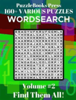 PuzzleBooks Press - WordSearch - Volume 2: 160+ Various Puzzles - Find Them All!
