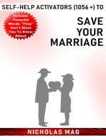Self-Help Activators (1056 +) to Save Your Marriage