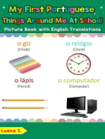 My First Portuguese Things Around Me at School Picture Book with English Translations