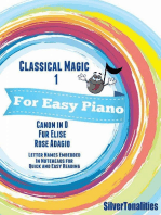 Classical Magic 1 - For Easy Piano Canon In D Fur Elise Rose Adagio Letter Names Embedded In Noteheads for Quick and Easy Reading