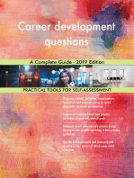 Career development questions A Complete Guide - 2019 Edition