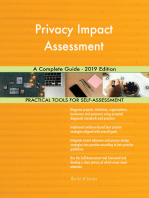 Privacy Impact Assessment A Complete Guide - 2019 Edition
