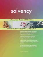 solvency A Complete Guide - 2019 Edition