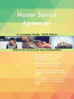 Master Service Agreement A Complete Guide - 2019 Edition