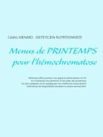 Menus de printemps pour l'hémochromatose