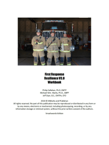 First Response Resilience V3.0 Workbook