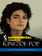 Monumental Words of King Of Pop