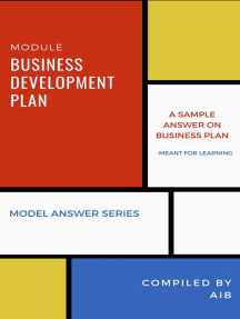 Business Development Plan: Model Answer Series