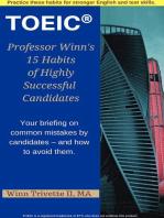 Professor Winn's 15 Habits of Highly Successful TOEIC® Candidates