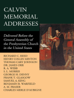 Calvin Memorial Addresses