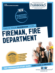 Fireman, Fire Department: Passbooks Study Guide