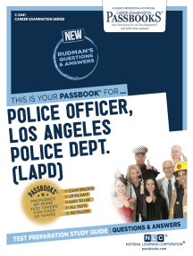 Police Officer, Los Angeles Police Department (LAPD): Passbooks Study Guide