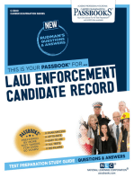 Law Enforcement Candidate Record