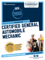 Certified General Automobile Mechanic (ASE)