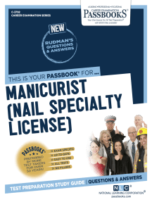 Manicurist (Nail Specialty License): Passbooks Study Guide