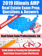 2019 Illinois AMP Real Estate Exam Prep Questions, Answers & Explanations