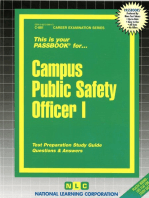 Campus Public Safety Officer I