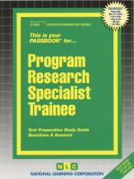 Program Research Specialist Trainee