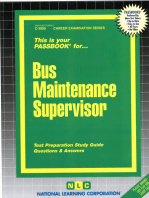 Bus Maintenance Supervisor