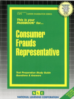 Consumer Frauds Representative