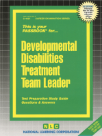 Developmental Disabilities Treatment Team Leader