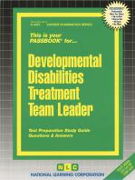 Developmental Disabilities Treatment Team Leader