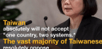 China's Push For 'One Country, Two Systems' In Taiwan Meets Vigorous Opposition