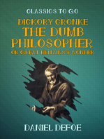 Dickory Cronke The Dumb Philosopher or Great Britains's Wonder