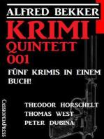 Krimi Quintett 001 – Fünf Krimis in einem Buch!