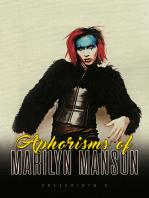 Aphorisms of Marilyn Manson