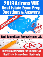 2019 Arizona VUE Real Estate Exam Prep Questions, Answers & Explanations